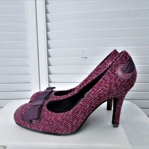 Amanda Smith BEAU pink purple textile heels 7.5M